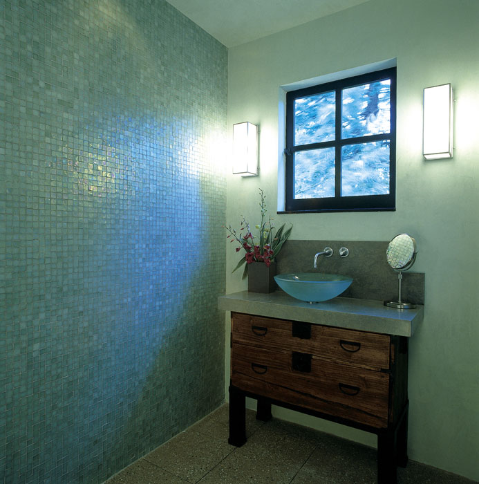 ... Green Glass Tile Bathroom ...