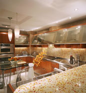 glass tile kitchen