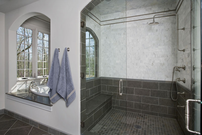 Master Bathroom Floor Tile Gray