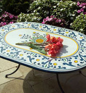 colorful custom outdoor table